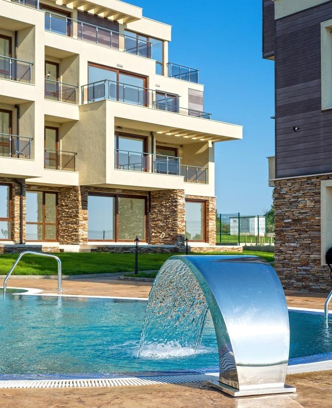 appartement-piscine-bord de mer-Espagne